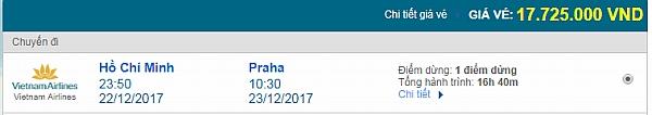 Giá vé máy bay từ TPHCM đi Prague