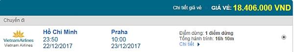Giá vé máy bay từ TPHCM đi Prague hãng Vietnam Airlines