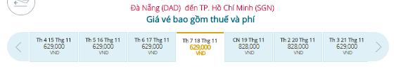 Vé máy bay khuyến mãi Đà Nẵng - TP.HCM