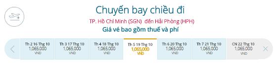 Vé máy bay khuyến mãi đi Hải Phòng, Vietnam Airlines
