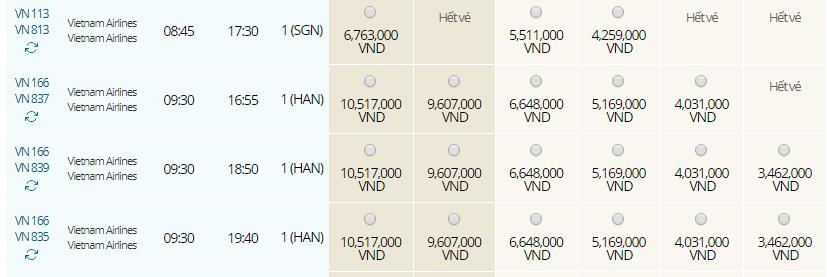 Giá vé máy bay từ Đà Nẵng đi Siem Reap hãng Vietnam Airlines