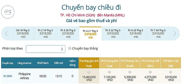 Giá vé máy bay TP HCM đi Philippines