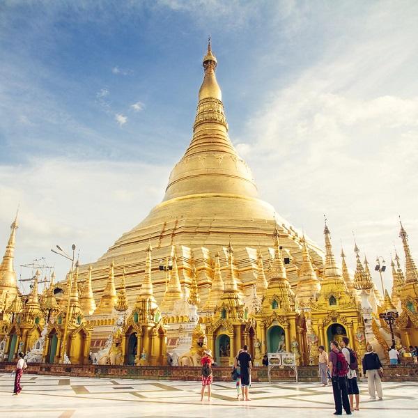 Đặt vé máy bay đi Vé máy bay đi Myanmar khám phá chùa vàng
