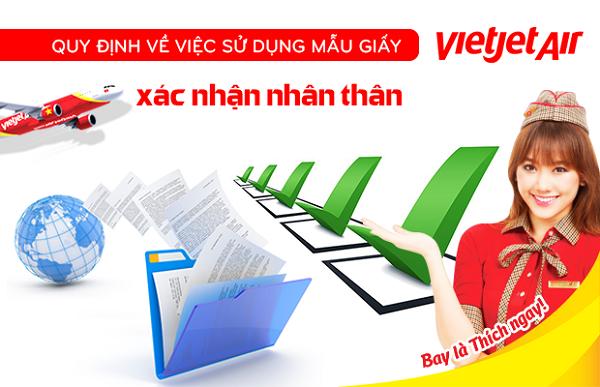 Yêu cầu giấy tờ của Vietjet Air