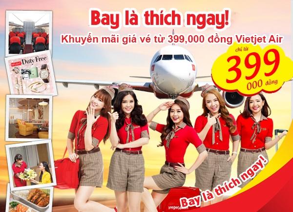 Khuyến mãi Vietjet Air 399K