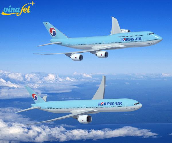 Mua vé máy bay của hãng Korean Air siêu khuyến mãi tại Vinajet