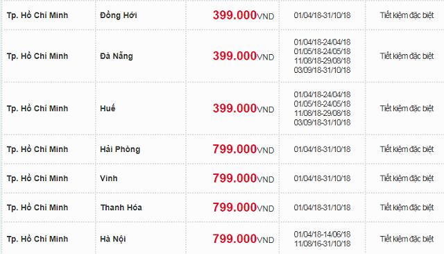 Bảng giá hè khuyến mãi 2018 cùng Vietnam Airlines -04
