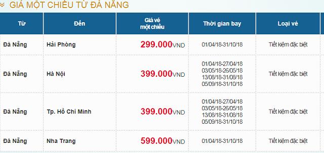 Bảng giá hè khuyến mãi 2018 cùng Vietnam Airlines -05
