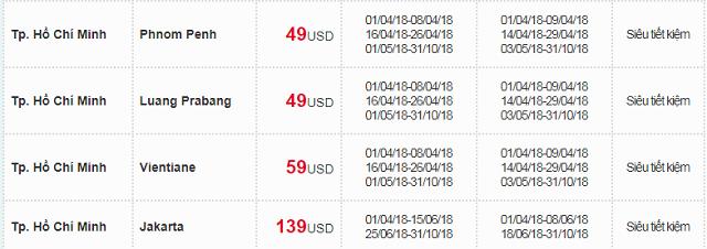 Bảng giá hè khuyến mãi 2018 cùng Vietnam Airlines -11
