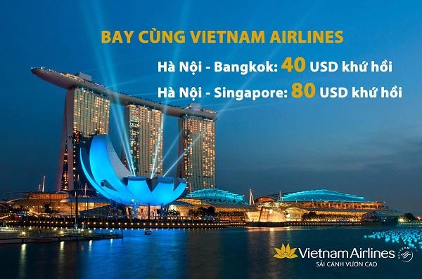 Khuyến mãi đi Quốc Tế hãng Vietnam Airlines