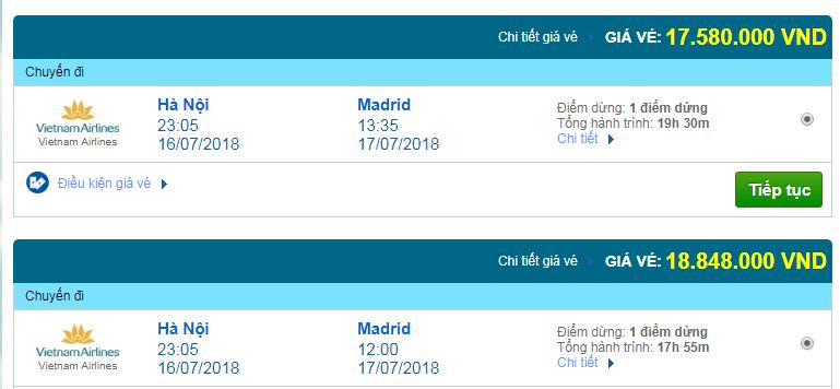 Giá vé máy bay Hà Nội đi Madrid, Tây Ban Nha 02