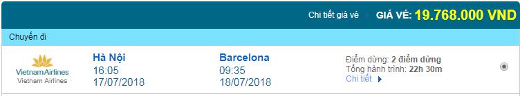 Giá vé máy bay Hà Nội đi Barcelona 01