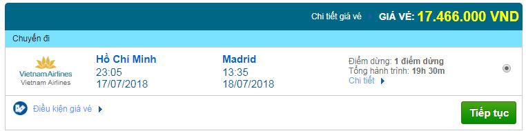 Giá vé máy bay Sài Gòn đi Madrid, Tây Ban Nha 01