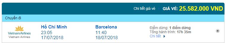 giá vé máy bay TPHCM đi Barcelona