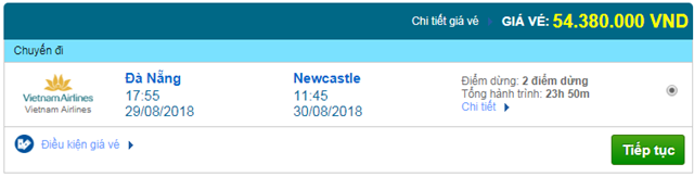 Vé máy bay Vietnam Airlines đi Newcastle, Anh