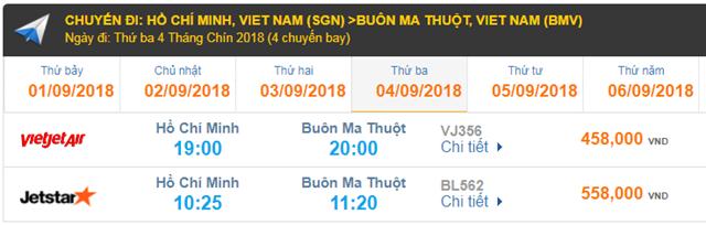 Giá vé máy bay đi Buôn Ma Thuột