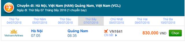 Vé máy bay Hà Nội đi Chu Lai