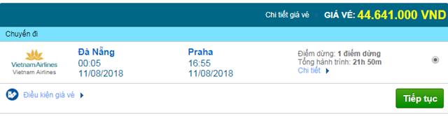 Giá Vé máy bay Vietnam Airlines đi Praha, Cộng Hòa Séc