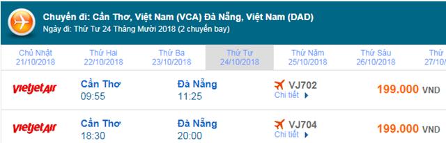 Giá vé máy bay đi Đà Nẵng Vietjet Air