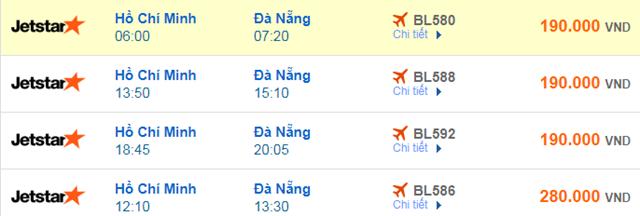Giá vé máy bay đi Đà Nẵng Jetstar