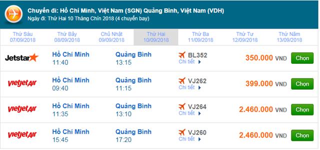 Vé máy bay Hà Nội đi Đồng Hới, Quảng Bình