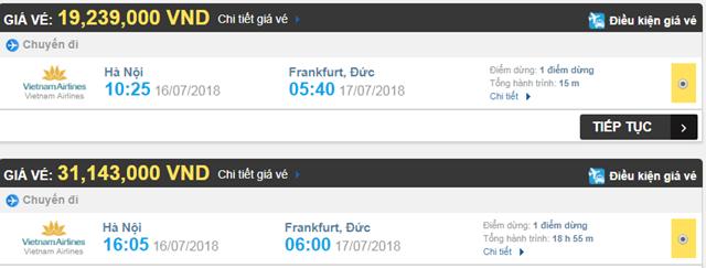 Vé máy bay Vietnam Airlines đi Frankfurt, Đức