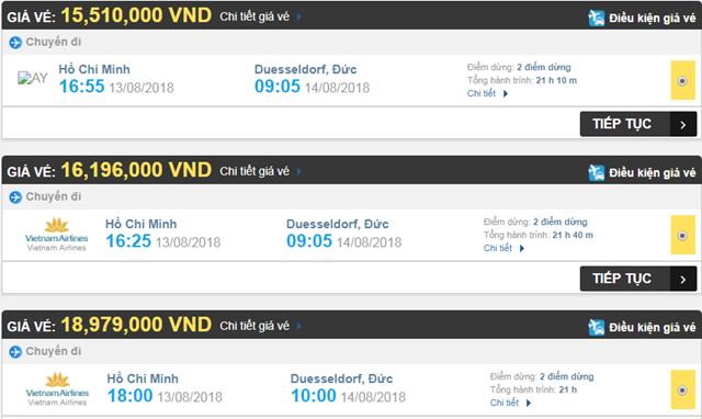 Vé máy bay đi Düsseldorf, Đức