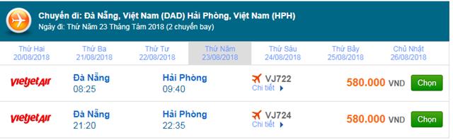 Vé máy bay Đà Nẵng đi Hải Phòng