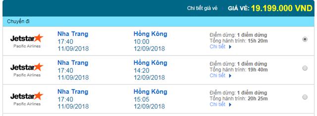 Vé máy bay Jetstar đi Hongkong