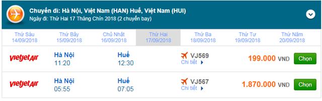 Vé máy bay đi Huế - Vietjet Air