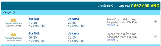 Vé máy bay Vietnam AIrlines đi Jakarta