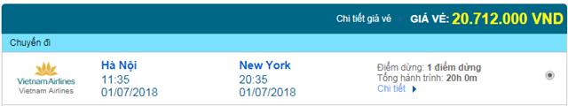 Vé máy bay Vietnam Airlines đi NewYork, Mỹ