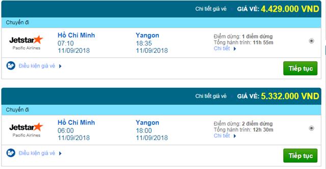 Vé máy bay đi Myanmar Jetstar