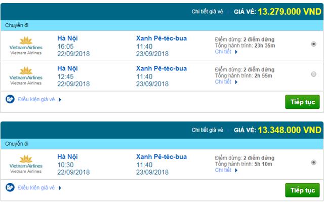 Vé máy bay Vietnam Airlines đi St Petersburg, Nga