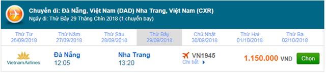 Vé máy bay Vietnam Airlines đi Nha Trang