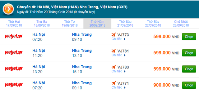 Vé máy bay Vietjet Air đi Nha Trang