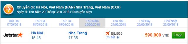 Vé máy bay Jetstar đi Nha Trang