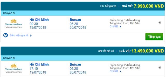 Vé máy bay Vietnam Airlines đi Butuan, Philippines