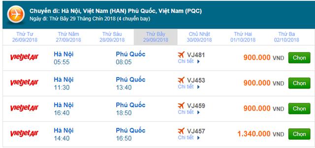 Vé máy bay Vietjet Air đi Phú Quốc
