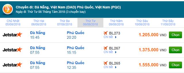 Vé máy bay Jetstar đi Phú Quốc