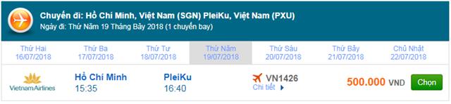 Vé máy bay Vietnam Airlines đi Pleiku