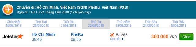 Vé máy bay Jetstar đi Pleiku