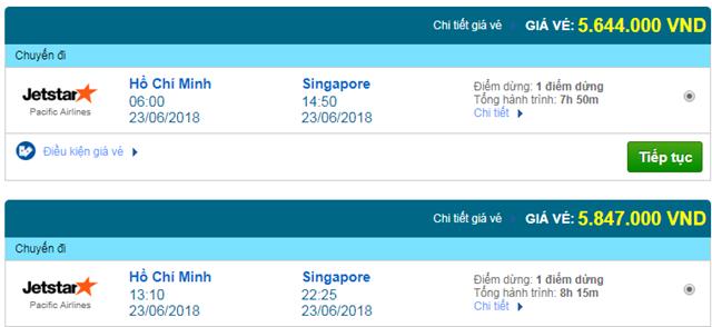 Vé máy bay Sài Gòn đi Singapore