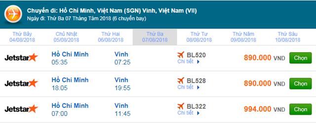Vé máy bay Jetstar đi Vinh
