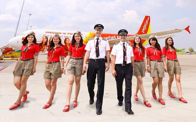 vé máy bay giá rẻ Hãng Vietjet Air