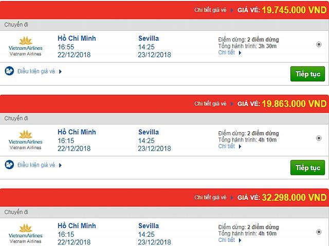 V m y bay gi r i sevilla t y ban nha vietnam a airlines for Ban ban sevilla