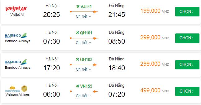 Giá vé đi Đà Nẵng tháng 11 bao nhiêu?