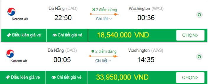 Giá vé đi Mỹ tháng 9 bao nhiêu?