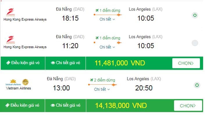 Giá vé đi Mỹ tháng 10 bao nhiêu?